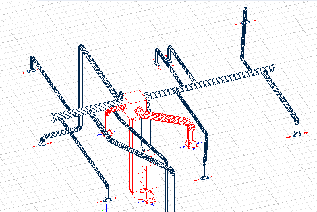 Wrightsoft Products Desktop Solutions Right Cad Hvac Duct Drawing Example Use In Conjunction With Our Other Modules To Design And View 3d Ducts It Can Also Accurately Calculate The Heating