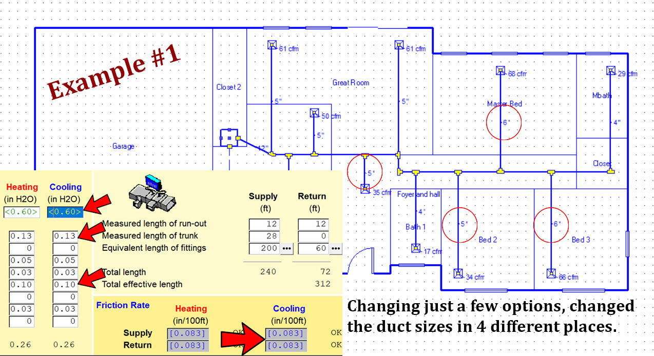 Manual D duct design using Right-D® module