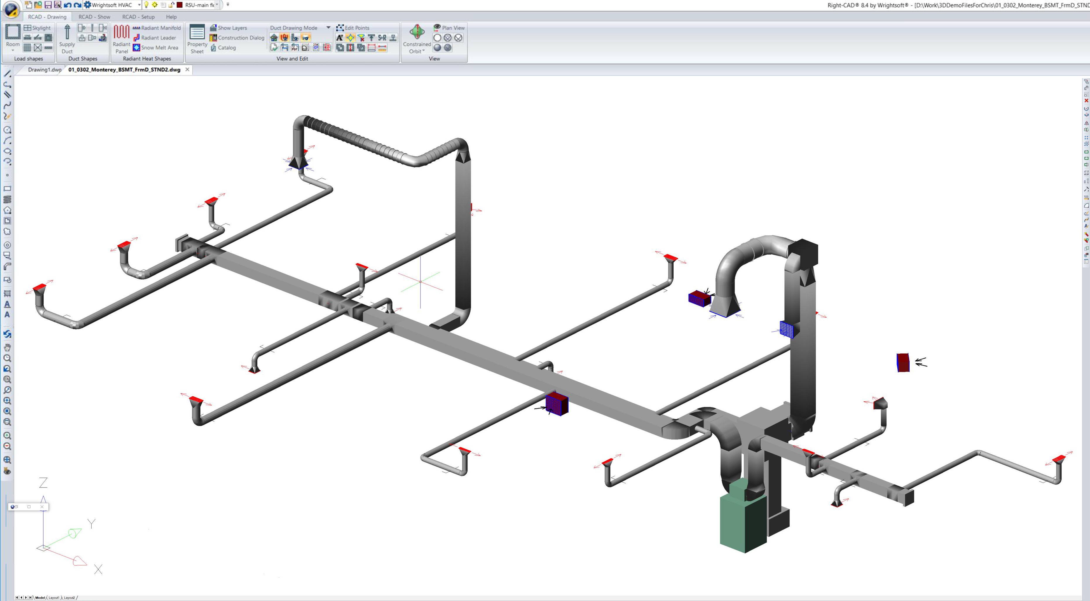 Wrightsoft > Products > Desktop Solutions > Right-CAD | Hvac Drawing Program |  | Wrightsoft